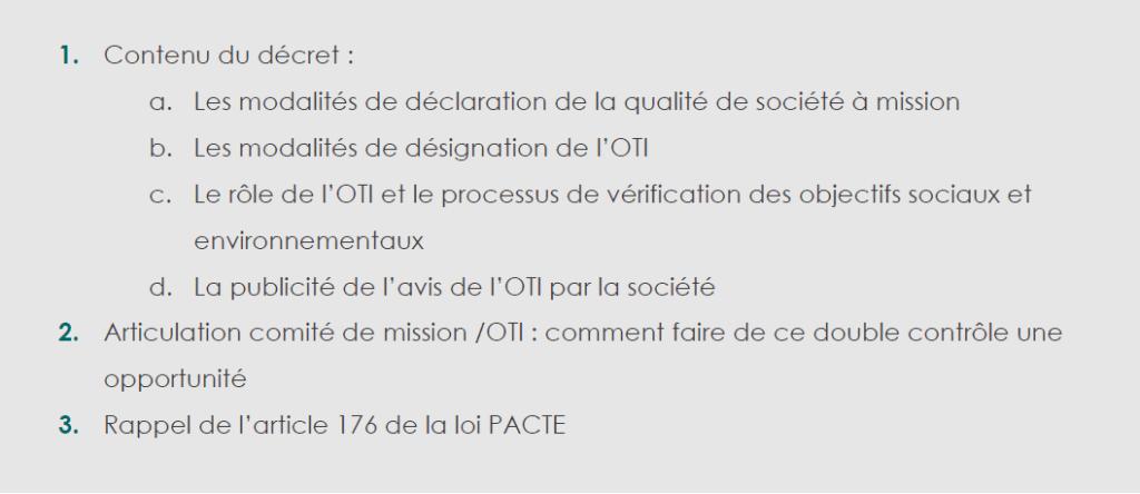 200122_Extrait article_Sortie de notre note 'Décret d'application relatif aux sociétés à mission'