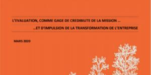 'L'évaluation de la société à mission', sortie du livrable du Groupe de Travail #2 de la Communauté des Entreprises à Mission